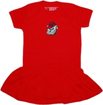 Georgia Bulldogs Head Picot Bodysuit Dress
