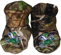 Notre Dame Fighting Irish Realtree Camo Baby Bootie