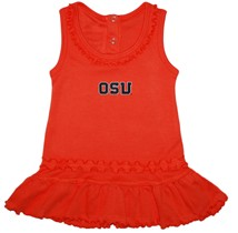 Oregon State Beavers Block OSU Ruffled Tank Top Dress