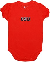 Oregon State Beavers Block OSU Puff Sleeve Bodysuit