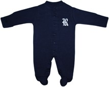 Rice Owls Footed Romper