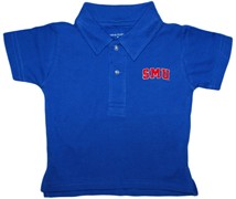 SMU Mustangs Word Mark Infant Toddler Polo Shirt