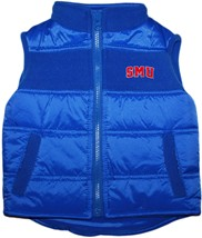 SMU Mustangs Word Mark Puffy Vest