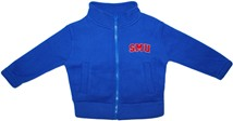 SMU Mustangs Word Mark Polar Fleece Zipper Jacket