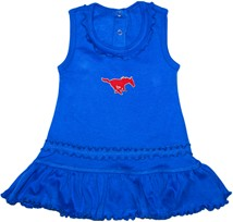 SMU Mustangs Ruffled Tank Top Dress