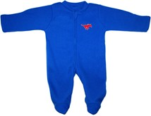 SMU Mustangs Fleece Footed Romper