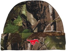 SMU Mustangs Newborn Realtree Camo Knit Cap