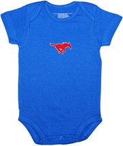 SMU Mustangs Newborn Infant Bodysuit