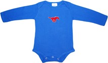 SMU Mustangs Long Sleeve Bodysuit