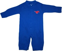 "SMU Mustangs ""Convertible"" Gown (Snaps into Romper)"