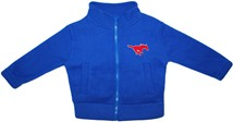SMU Mustangs Polar Fleece Zipper Jacket