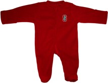 Stanford Cardinal Fleece Footed Romper