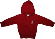 Stanford Cardinal Snap Hooded Jacket