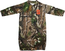 "Syracuse Orange Realtree Camo ""Convertible"" Gown (Snaps into Romper)"
