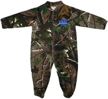 "Washburn Ichabods ""W"" Mark Realtree Camo Footed Romper"