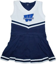 "Washburn Ichabods ""W"" Mark Cheerleader Bodysuit Dress"