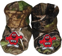 Western Kentucky Big Red Realtree Camo Baby Bootie