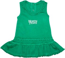 North Texas Mean Green Ruffled Tank Top Dress