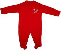 Eastern Washington Eagles Footed Romper
