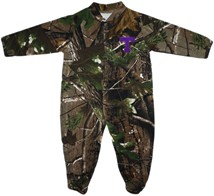 Tarleton State Texans Realtree Camo Footed Romper