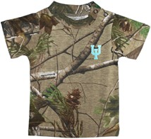 Upper Iowa Peacocks Realtree Camo Short Sleeve T-Shirt