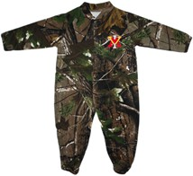 Virginia Military Institute Keydets Realtree Camo Footed Romper