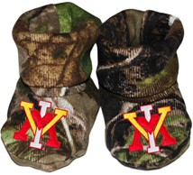 Virginia Military Institute Keydets Realtree Camo Baby Bootie