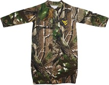 "West Virginia Mountaineers Realtree Camo ""Convertible"" Gown (Snaps into Romper)"