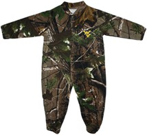 West Virginia Mountaineers Realtree Camo Footed Romper