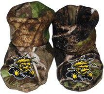 Wichita State Shockers Realtree Camo Baby Bootie