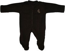 Wyoming Cowboys Fleece Footed Romper
