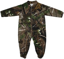 Wyoming Cowboys Realtree Camo Footed Romper