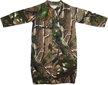 "Wyoming Cowboys Realtree Camo ""Convertible"" Gown (Snaps into Romper)"