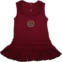 Harvard Crimson Veritas Shield with Wreath & Banner Ruffled Tank Top Dress