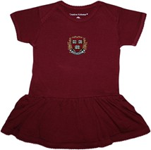Harvard Crimson Veritas Shield with Wreath & Banner Picot Bodysuit Dress