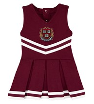 Harvard Crimson Veritas Shield with Wreath & Banner Cheerleader Bodysuit Dress