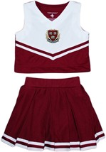 Official Harvard Crimson Veritas Shield with Wreath & Banner 2-Piece Cheerleader
