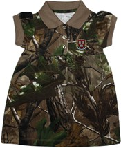 Harvard Crimson Veritas Shield with Wreath & Banner Realtree Camo Polo Dress