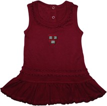 Harvard Crimson Veritas Shield Ruffled Tank Top Dress