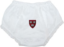 Harvard Crimson Veritas Shield Baby Eyelet Panty