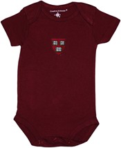 Harvard Crimson Veritas Shield Newborn Infant Bodysuit