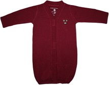 Harvard Crimson Veritas Shield Newborn Gown