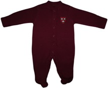 Harvard Crimson Veritas Shield Footed Romper