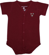 Harvard Crimson Veritas Shield Front Snap Newborn Bodysuit