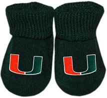 Miami Hurricanes Gift Box Baby Bootie