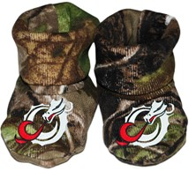 Minnesota State Moorhead Dragons Realtree Camo Baby Bootie
