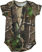 Missouri Tigers Realtree Camo Newborn Infant Bodysuit