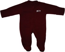 MIT Engineers Arched M.I.T. Fleece Footed Romper