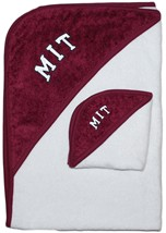 Official MIT Engineers Arched M.I.T. Hooded Towel/Washcloth Set