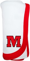 "Monmouth College Graphic ""M"" Thermal Baby Blanket"